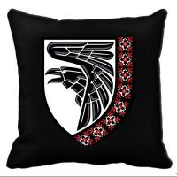 Декоративна подушка 93 ОМБр знак вишиванка Чорна