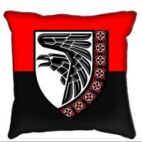 Декоративна подушка 93 ОМБр знак вишиванка Червоно-чорна