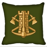 Декоративна подушка Інженерні Війська (зелена)