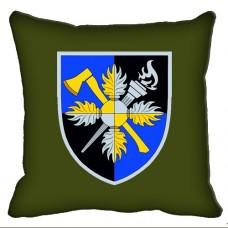 Декоративна подушка Об'єднаний навчально-тренувальний центр Сил підтримки ЗСУ (олива)