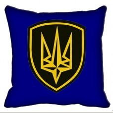 Декоративна подушка Бригада Швидкого Реагування НГУ (синя)
