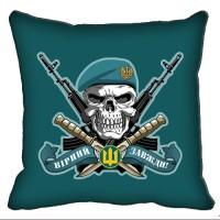 Декоративна подушка Морська пiхота з черепом