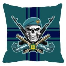 Декоративна подушка Морська пiхота з черепом в береті