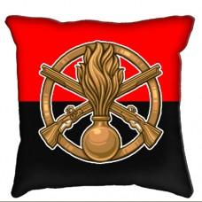 Купить Декоративна Подушка Піхота (червоно-чорна) в интернет-магазине Каптерка в Киеве и Украине