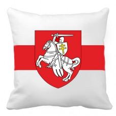 """Декоративна подушка біло-червоно-білий прапор """"Пагоня"""" Білорусь"""