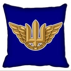 Декоративна Подушка Авіація знак ВПС ЗСУ (синя)