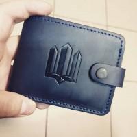Шкіряний гаманець ТРИЗУБ (т.синій)