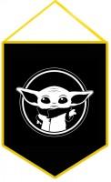 Вимпел Baby Yoda (чорний)