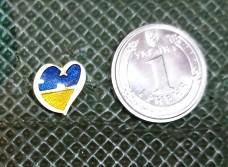 Значок Серце Україна