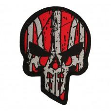 Купить Шеврон UKRAINIAN PUNISHER (червоно чорний) жакард в интернет-магазине Каптерка в Киеве и Украине