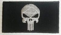 Нашивка Череп Punisher чорний
