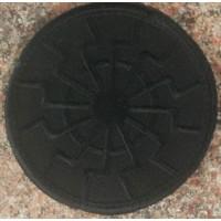 Нашивка Черное Солнце вышивка (черная)