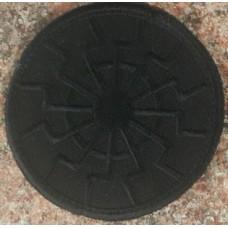 Нашивка Черное Солнце вишивка (чорна)