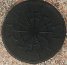 Купить Нашивка Черное Солнце вишивка (чорна) Спеціальна ціна в интернет-магазине Каптерка в Киеве и Украине