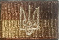 Нашивка прапор України з гербом (койот)