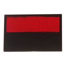 Нашивка прапор України (червоно чорний) 5см