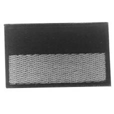 Нашивка прапор України (чорно сірий) 5см