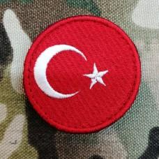 Купить Нашивка прапор Туреччини (кругла) в интернет-магазине Каптерка в Киеве и Украине