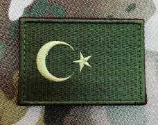 Купить Нашивка прапор Туреччини (олива) в интернет-магазине Каптерка в Киеве и Украине