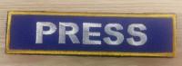 Нашивка PRESS синя