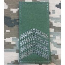 Погон Старший Сержант олива Згідно Наказу 606 без обшивки