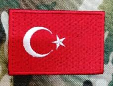 Купить Нашивка прапор Туреччини в интернет-магазине Каптерка в Киеве и Украине