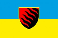Прапор 55 ОАБр (синьо-жовтий)
