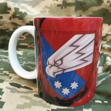 Керамічна чашка 25 ОПДБр (марун) з новим знаком бригади Ніхто, крім нас!