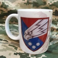 Керамічна чашка 25 ОПДБр з новим знаком бригади Ніхто, крім нас!