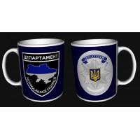 Керамічна чашка Департамент Нормальної Поліції з жетоном