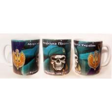 Керамічна чашка Морська Піхота Вірний Завжди! (череп в береті)