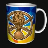 Керамічна чашка з знаком Піхоти - Механізовані Війська ЗСУ