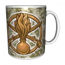 Керамічна чашка з знаком Механізовані Війська ЗСУ (піксель)