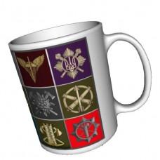 Купить Керамічна чашка Нові Беретні Знаки ЗСУ в интернет-магазине Каптерка в Киеве и Украине