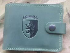 Шкіряний гаманець 24 бригада ім. Короля Данила (зелений)