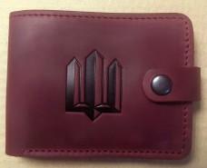 Шкіряний гаманець Тризуб (бордо)