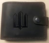 Шкіряний гаманець Тризуб (коричневий)