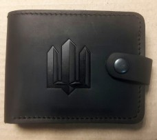 Шкіряний гаманець Тризуб (чорний)