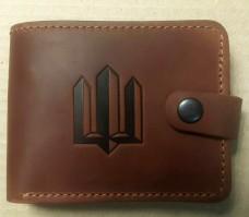 Шкіряний гаманець Тризуб (рудий)