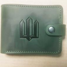 Шкіряний гаманець Тризуб (зелений)