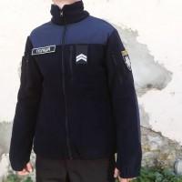 Куртка флісова ПОЛІЦІЯ темно синя 350гм