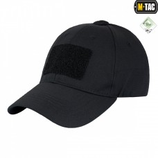 Бейсболка черная M-Tac С липучками для патчей FLEX РИП-СТОП