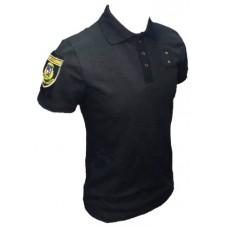 Поло Полиция с липучкой для шевронов и люверсами для жетона, на пуговицах АКЦИЯ