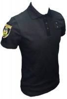 Поло Полиция с липучкой для шевронов и люверсами для жетона, на пуговицах