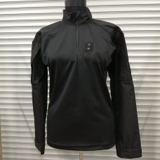 Тактична сорочка UBACS BLACK з люверсом для жетону