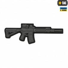ПВХ патч AR-15 3D темно-серая