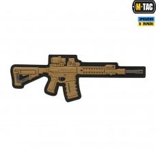 ПВХ патч AR-15 3D койот