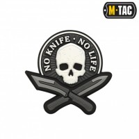 Шеврон NO KNIFE - NO LIFE 3D PVC Black