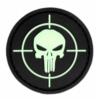 PVC патч PUNISHER SIGHT 3D PVC PATCH BLACK/GID