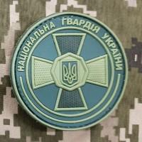 PVC патч Національна гвардія України олива